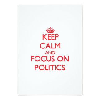 Gardez le calme et le foyer sur la politique invitations personnalisées