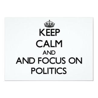 Gardez le calme et le foyer sur la politique invitation personnalisable