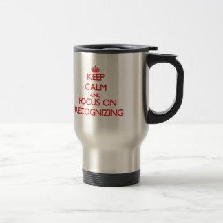 Gardez le calme et le foyer sur la reconnaissance mug de voyage en acier inoxydable