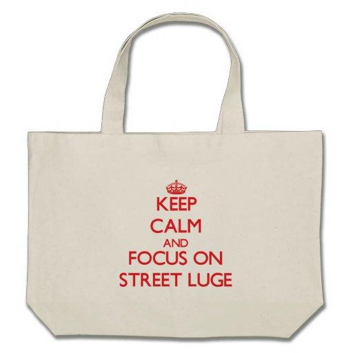 Gardez le calme et le foyer sur la rue Luge Sac En Toile