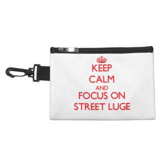Gardez le calme et le foyer sur la rue Luge Trousse Pour Accessoires