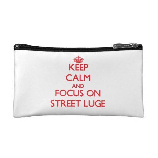 Gardez le calme et le foyer sur la rue Luge Trousses De Maquillage