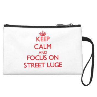 Gardez le calme et le foyer sur la rue Luge Pochette Avec Poignée