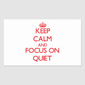 Gardez le calme et le foyer sur la tranquillité stickers en rectangle