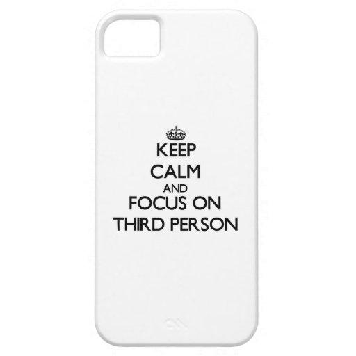Gardez le calme et le foyer sur la troisième perso coques iPhone 5 Case-Mate