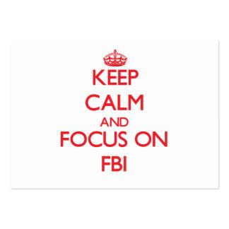 Gardez le calme et le foyer sur le Fbi Carte De Visite Grand Format