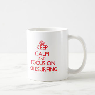 Gardez le calme et le foyer sur le kitesurf mug