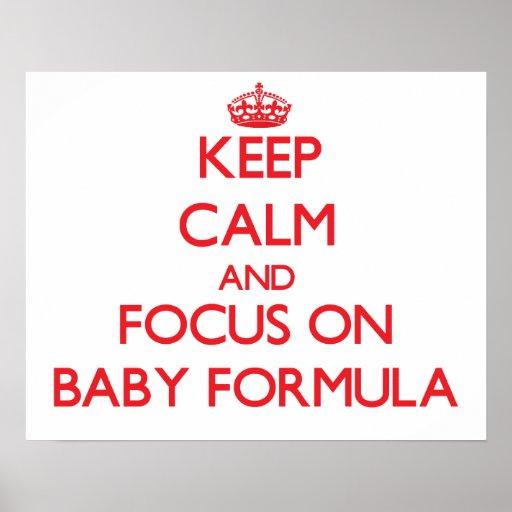 Gardez le calme et le foyer sur le lait maternisé posters