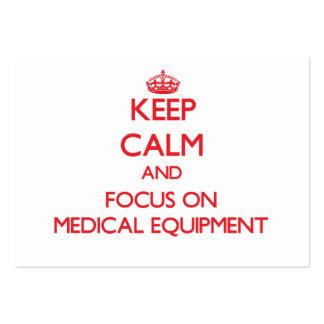 Gardez le calme et le foyer sur le matériel médica