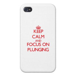 Gardez le calme et le foyer sur le plongement iPhone 4 case