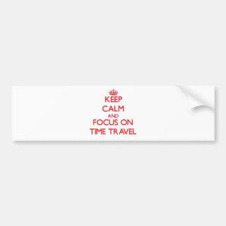 Gardez le calme et le foyer sur le voyage de temps adhésifs pour voiture