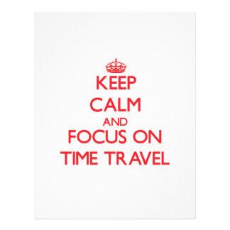 Gardez le calme et le foyer sur le voyage de temps prospectus personnalisés
