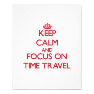 Gardez le calme et le foyer sur le voyage de temps tract