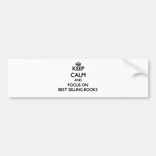 Gardez le calme et le foyer sur les livres plus ve adhésifs pour voiture