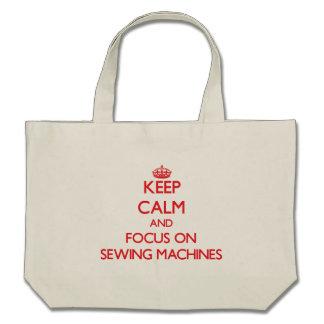 Gardez le calme et le foyer sur les machines à sacs en toile