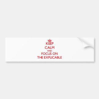 Gardez le calme et le foyer sur L'EXPLICABLE Adhésif Pour Voiture