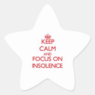 Gardez le calme et le foyer sur l'insolence autocollant en étoile