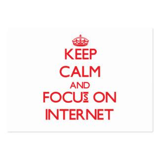 Gardez le calme et le foyer sur l'Internet Modèle De Carte De Visite