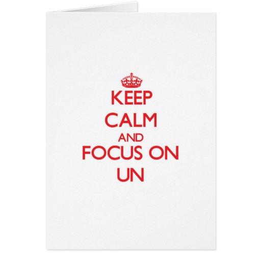 Gardez le calme et le foyer sur l'ONU Cartes De Vœux