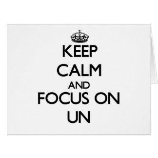 Gardez le calme et le foyer sur l'ONU Cartes