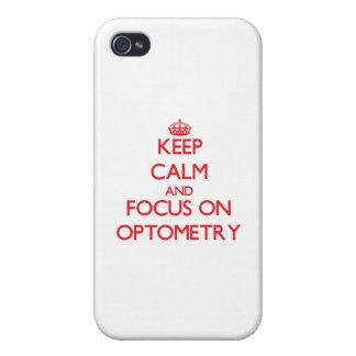 gardez le calme ET LE FOYER SUR l'optométrie Coque iPhone 4 Et 4S
