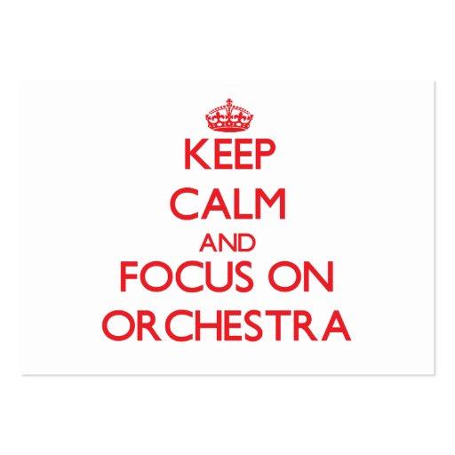 Gardez le calme et le foyer sur l'orchestre modèles de cartes de visite