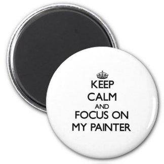 Gardez le calme et le foyer sur mon peintre