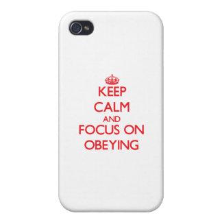 Gardez le calme et le foyer sur obéir étui iPhone 4/4S