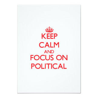 Gardez le calme et le foyer sur politique cartons d'invitation personnalisés
