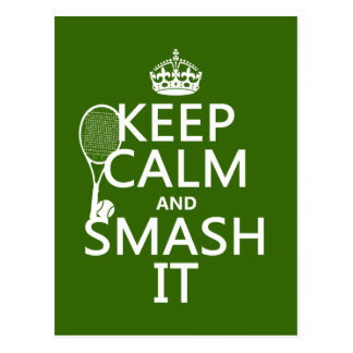 Gardez le calme et le fracas il (tennis) (toute cartes postales