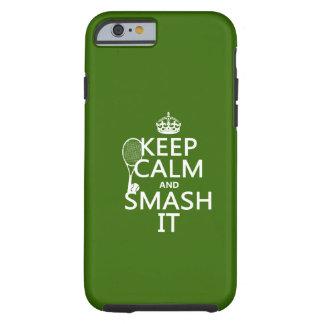 Gardez le calme et le fracas il (tennis) (toute coque iPhone 6 tough
