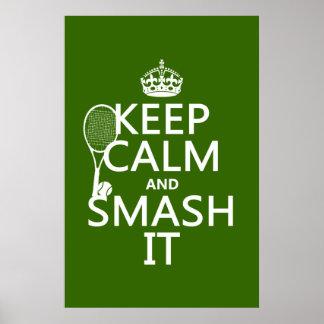 Gardez le calme et le fracas il (tennis) (toute posters