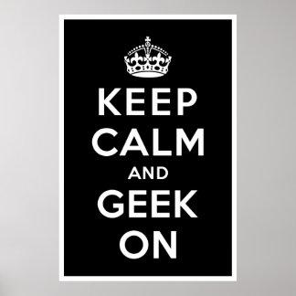 Gardez le calme et le geek dessus posters
