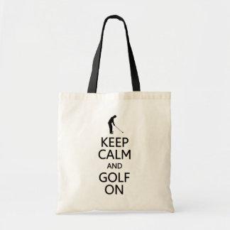 Gardez le calme et le golf sur le sac - pour chois