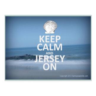 Gardez le calme et le Jersey sur la carte postale