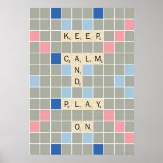 Gardez le calme et le jeu dessus posters