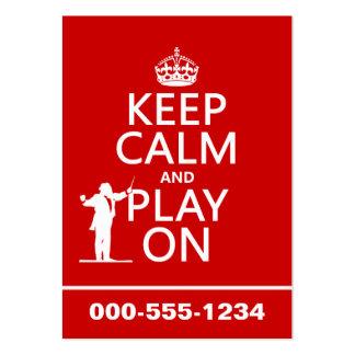 Gardez le calme et le jeu sur (conducteur) (toute  modèle de carte de visite