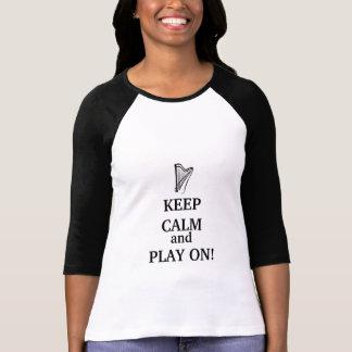 GARDEZ le CALME et le JEU SUR le T-shirt