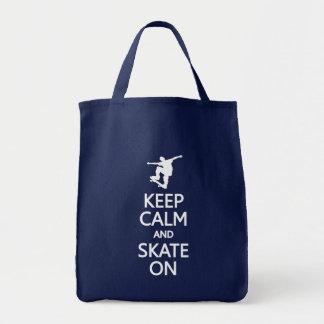 Gardez le calme et le patin sur le sac - pour choi