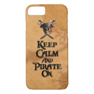 Gardez le calme et le piratez dessus coque iPhone 7