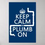 Gardez le calme et le plomb sur (plombier/tuyauter posters