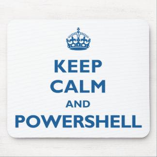 Gardez le calme et le PowerShell Mousepad Tapis De Souris