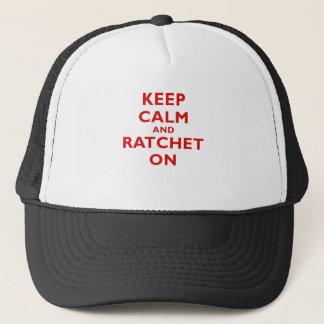 Gardez le calme et le rochet dessus casquette