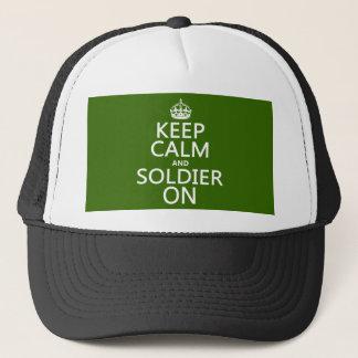 Gardez le calme et le soldat sur (toute couleur casquette