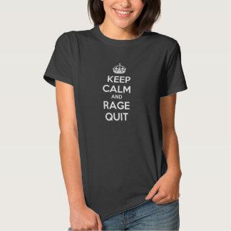 Gardez le calme et le T-shirt des femmes stoppées