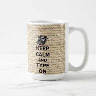 Gardez le calme et le type dessus mug