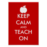 Gardez le calme et l'enseignez sur l'affiche avec