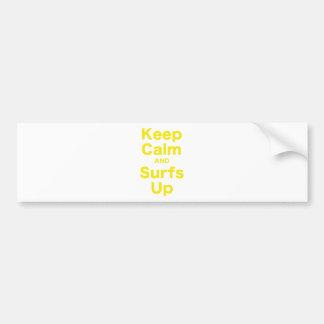 Gardez le calme et les ressacs autocollant de voiture