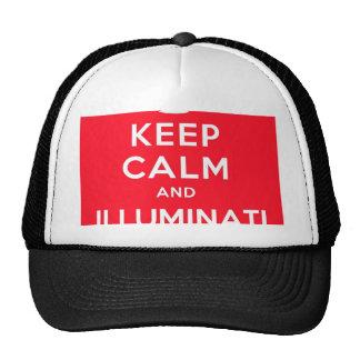 Gardez le calme et l'Illuminati Casquette De Camionneur