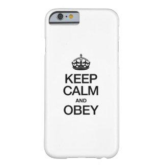 GARDEZ LE CALME ET L'OBÉISSEZ COQUE iPhone 6 BARELY THERE